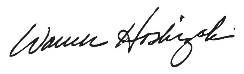 Warren Hoshizaki Signature