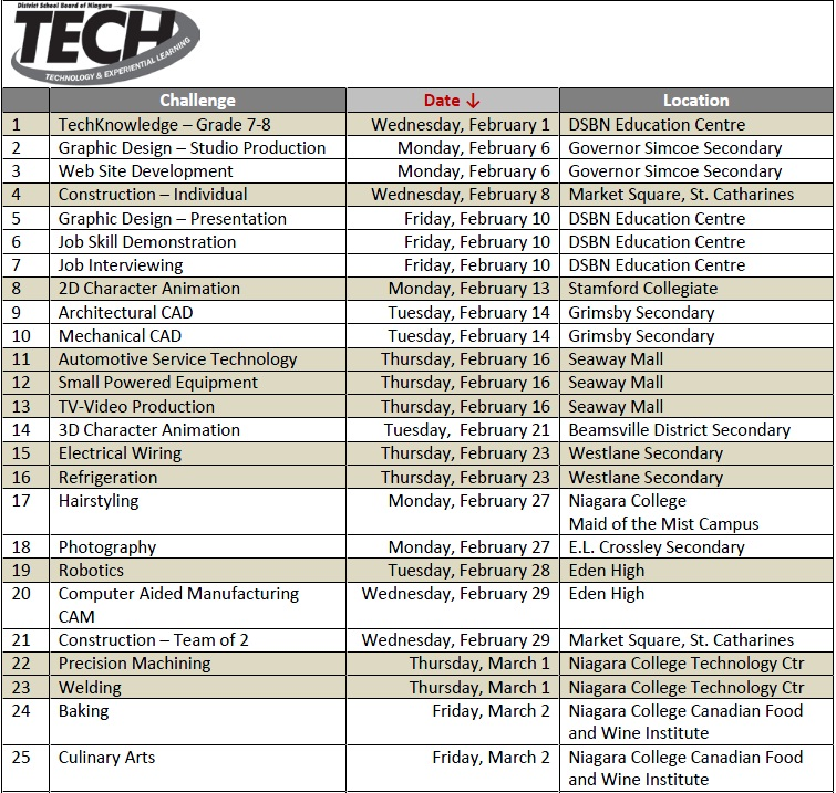 Tech Events Schedule